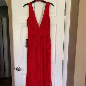 Beautiful Bebe Red Lacy Dress.